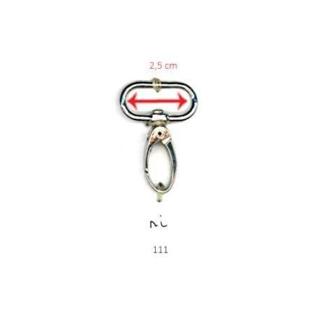 musketonhaak 111 2.5 cm zilver