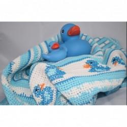 Badeend babycal pakket  blauw