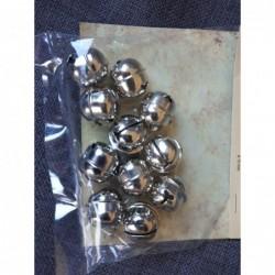 belletjes 12 stuks zilver