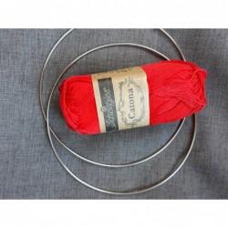 Lampion 15 cm rood