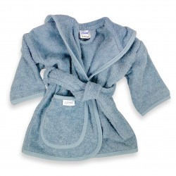 Badjas grey/blue  1-2 jaar