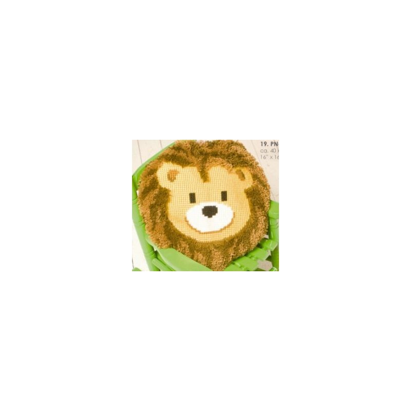 knopen en kruissteek lachende leeuw