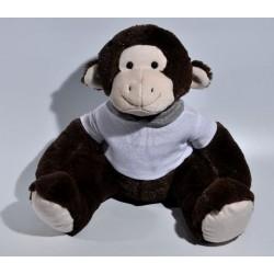 Knuffel donkere aap met shirt of slap