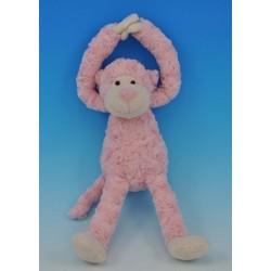 Slinger aapje, roze handjes met klittenband