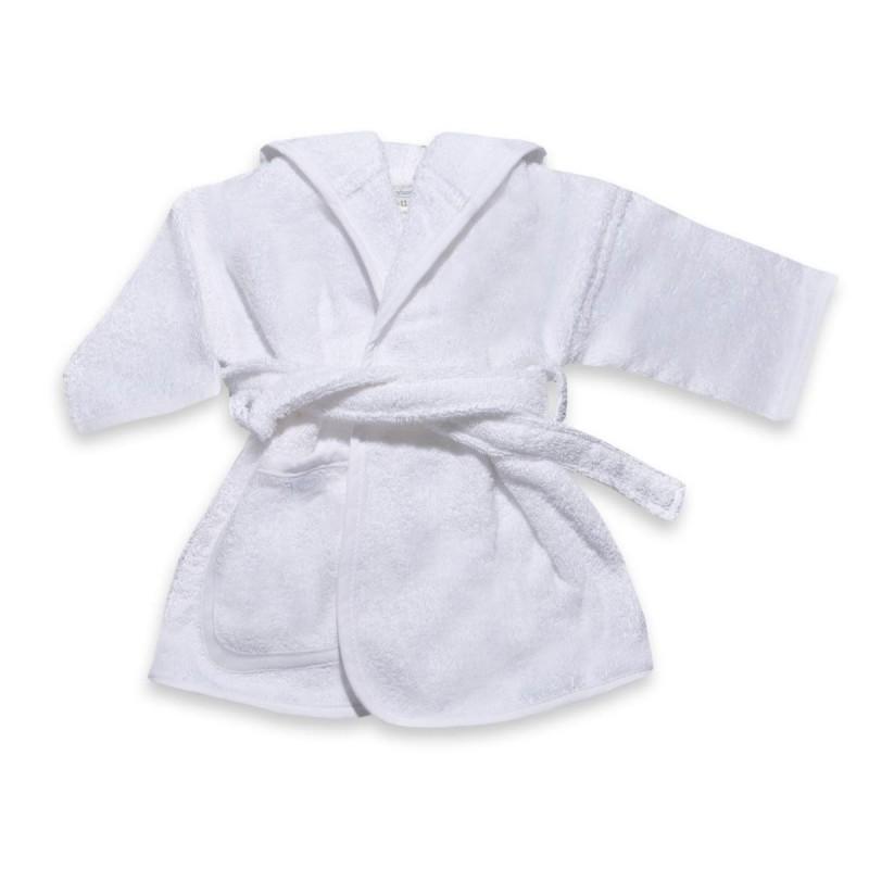 Badjas wit 0-1 jaar