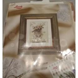 Borduurpakket hond geverfde...