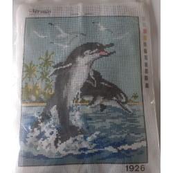 Borduurpakket dolfijnen...
