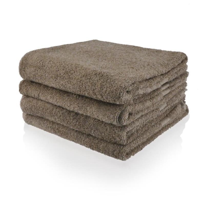 Handdoek 50 x 100 cm taupe dk