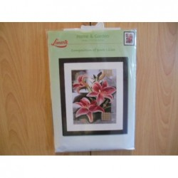 Borduurpakket Pink Lillies