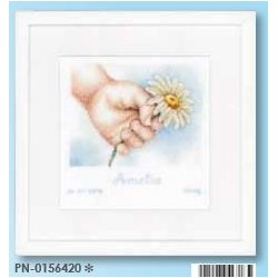 borduurpakket hand met bloem amelia   0156420 17 x 17 cm