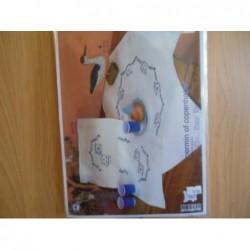 Borduurpakket Dekservet blauw kopje   80 x 80 cm zonder garen