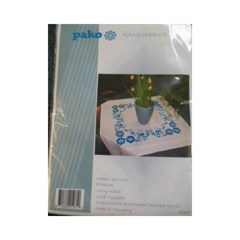 Dekservet blauwebloemen   325.047 80 x 80 cm