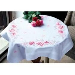 dekservet Roze rozen pn 0145973 voorgedrukte kruissteek