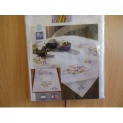 Tafelloper lila bloemen   40 x 100 cm nr 153